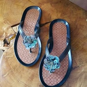Coach flip flops - never worn